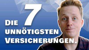 Die 7 unnötigsten Versicherungen Videobild